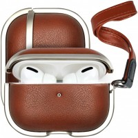 Designer Leather Airpod Case Pro with Ha...