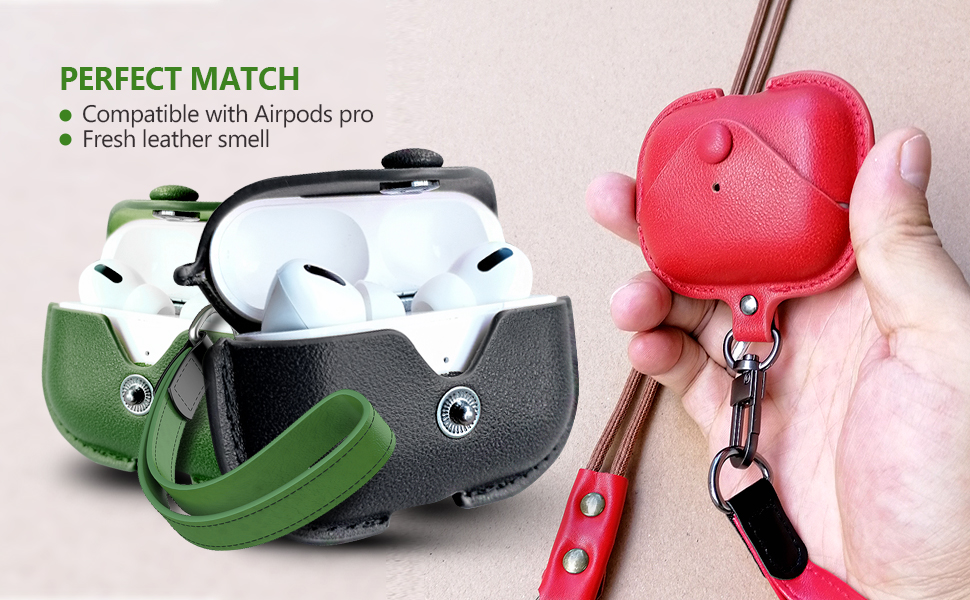 best luxury leather airpod pro cases cover
