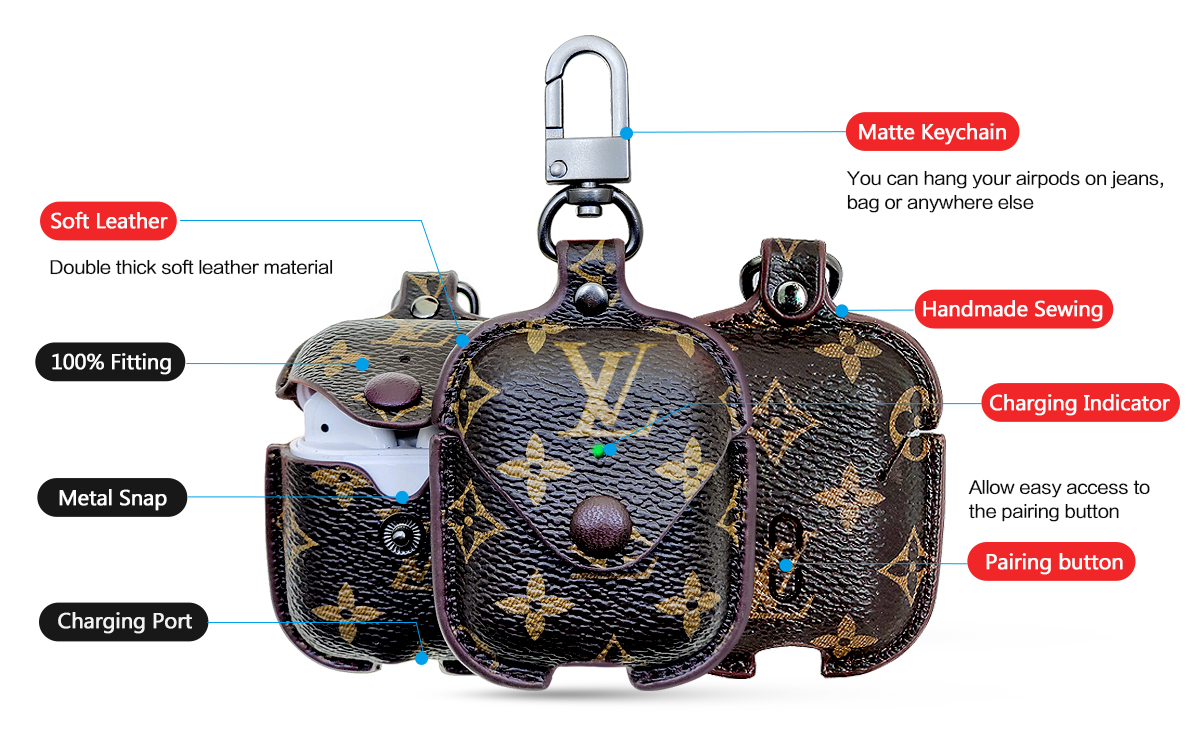 luxury airpods case lv